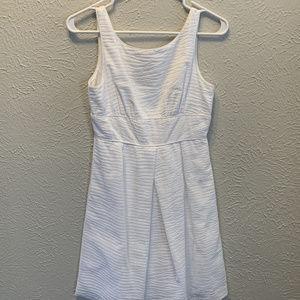 J. Crew Embossed Beach Dress - White